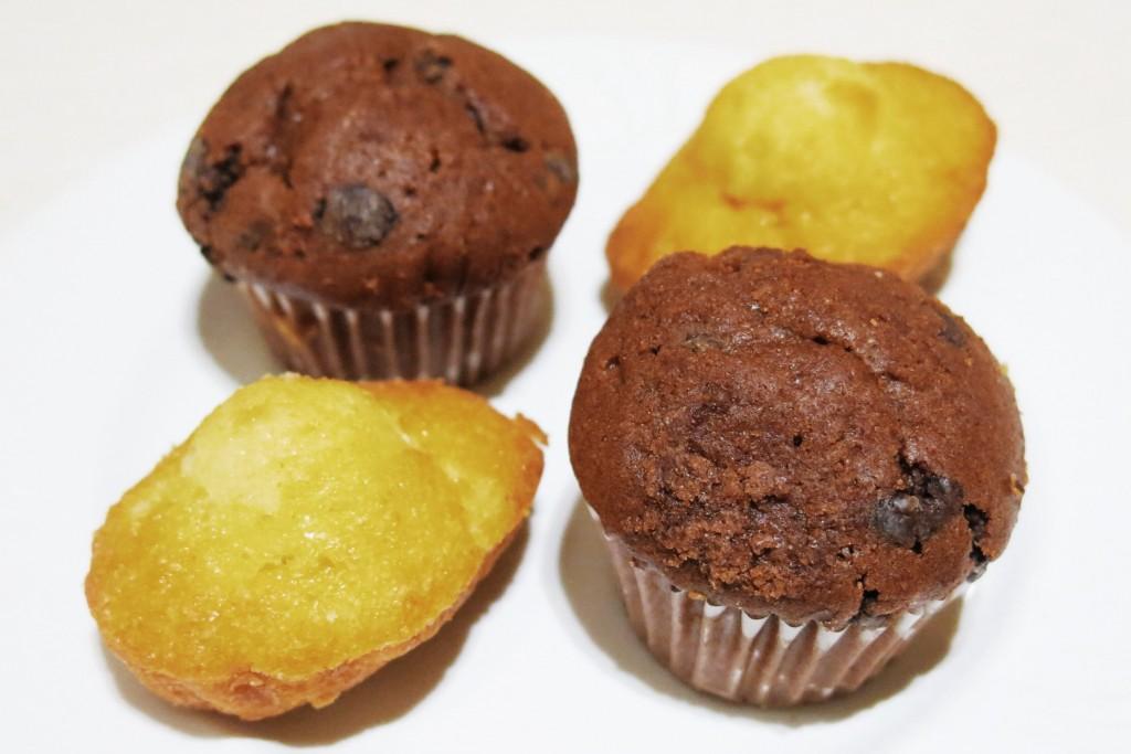 Mini muffins e mini madeleines